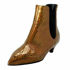 Giuseppe Zanotti Design Gold Ankle Boots Shoes